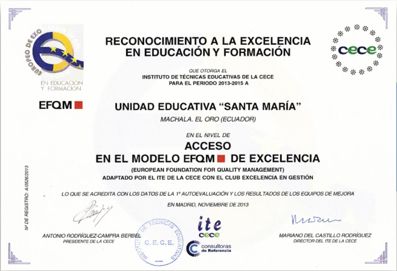 Nivel de Acceso EFQM